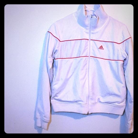 adidas Jackets & Blazers - Women's adidas track jacket white size small